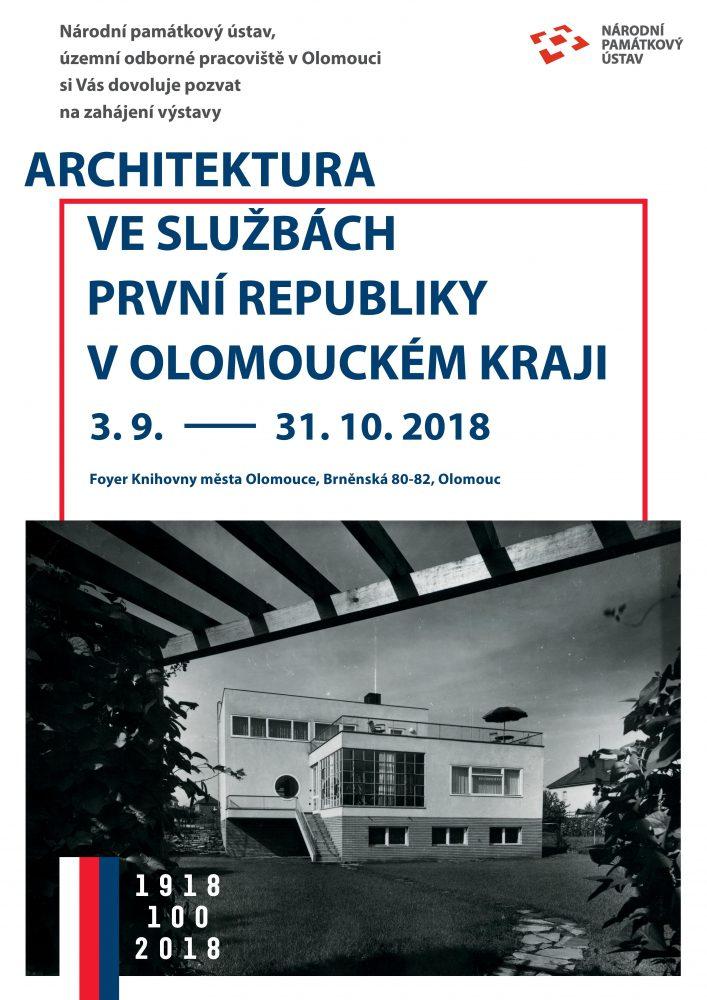 Architektura ve službách první republiky v Olomouckém kraji