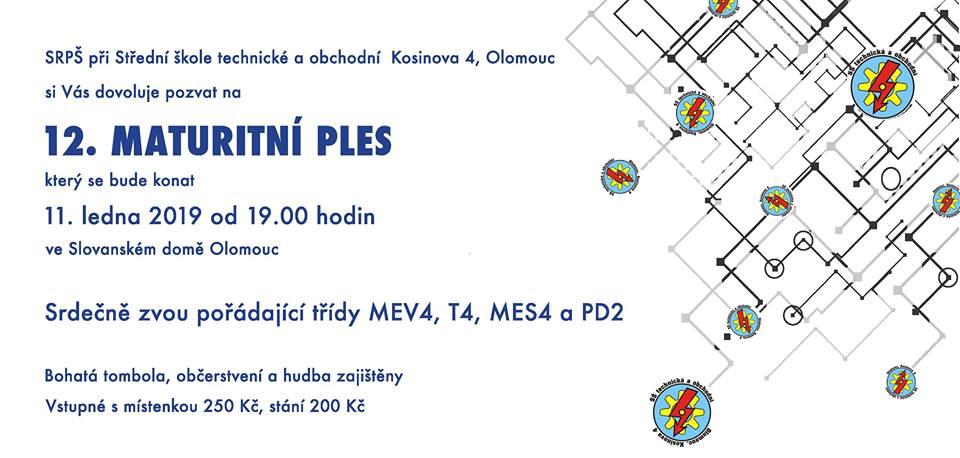 12. maturitní ples SŠTO Olomouc