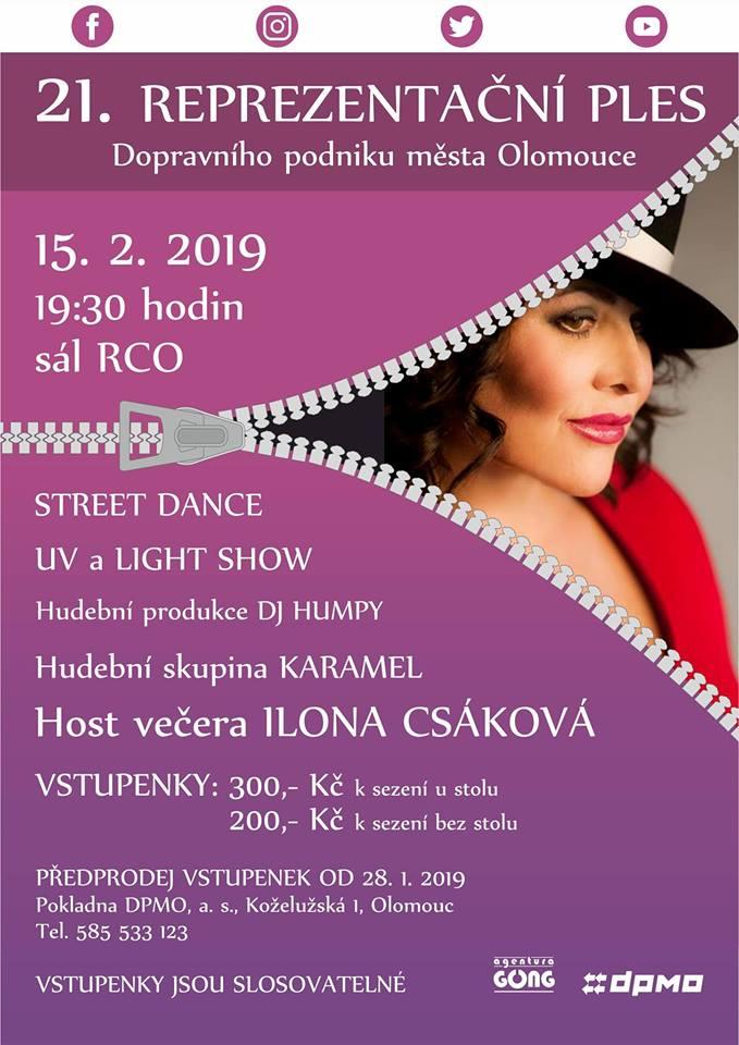 21. Reprezentační ples Dopravního podniku města Olomouce