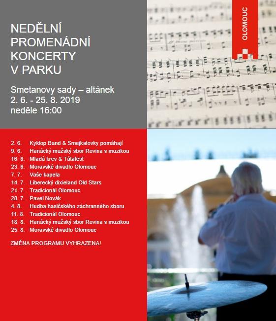 Nedělní promenádní koncerty v parku
