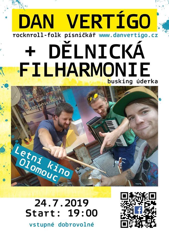 Olomouc: Dan Vertígo + Dělnická filharmonie na Letňáku