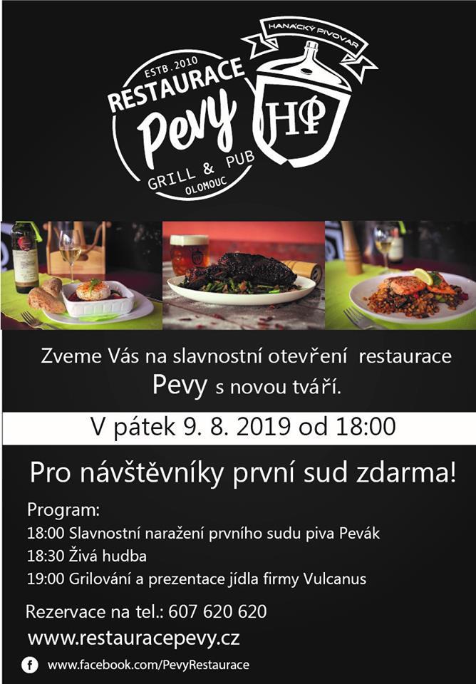Slavnostní otevření restaurace Pevy