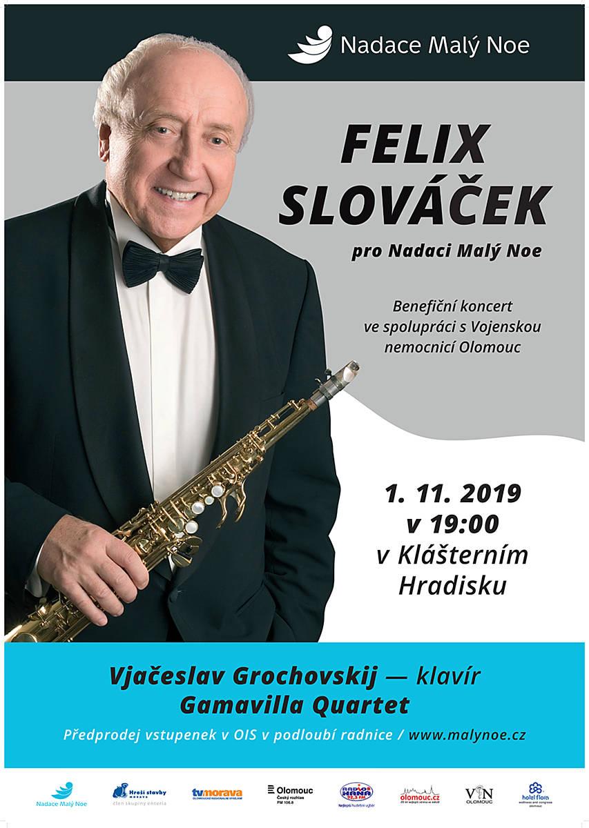 Felix Slováček pro Nadaci Malý Noe