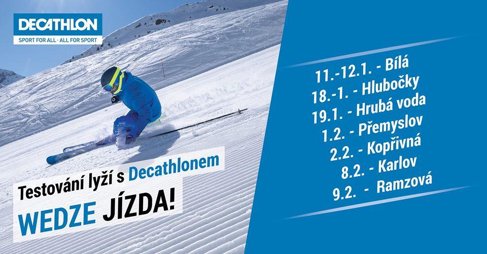 Wedze jízda - testování lyží