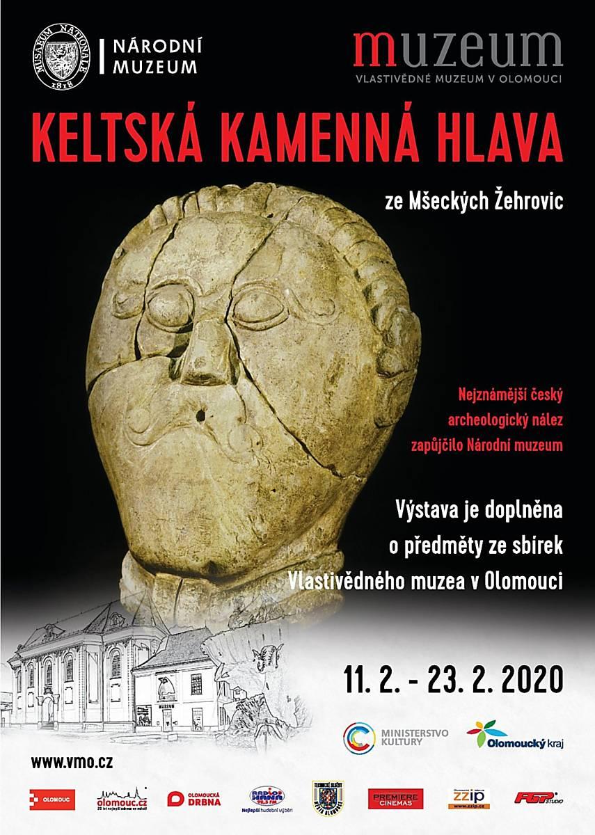 Keltská kamenná hlava ze Mšeckých Žehrovic