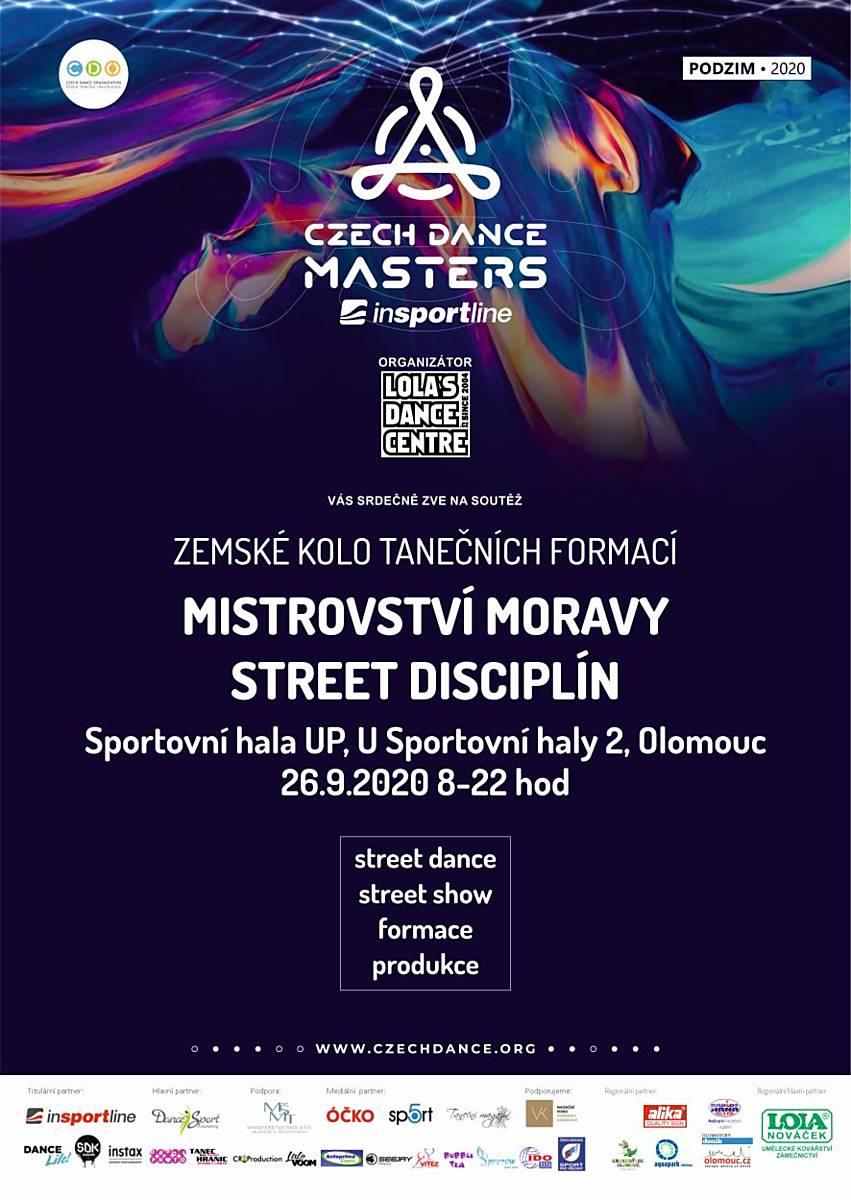 Mistrovství Moravy street disciplín - ZRUŠENO