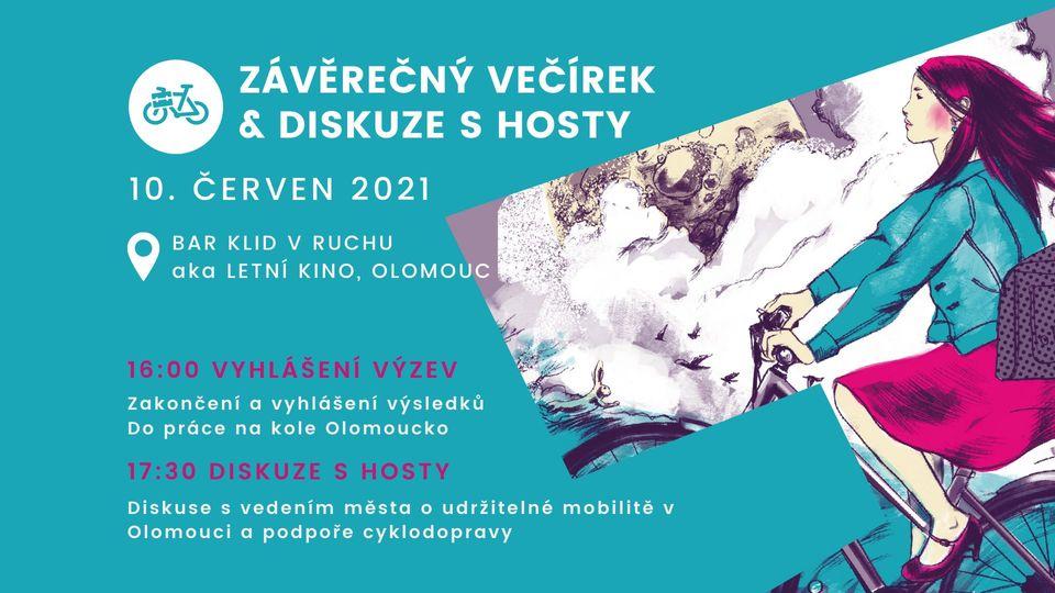 Závěrečný večírek Do práce na kole Olomoucko