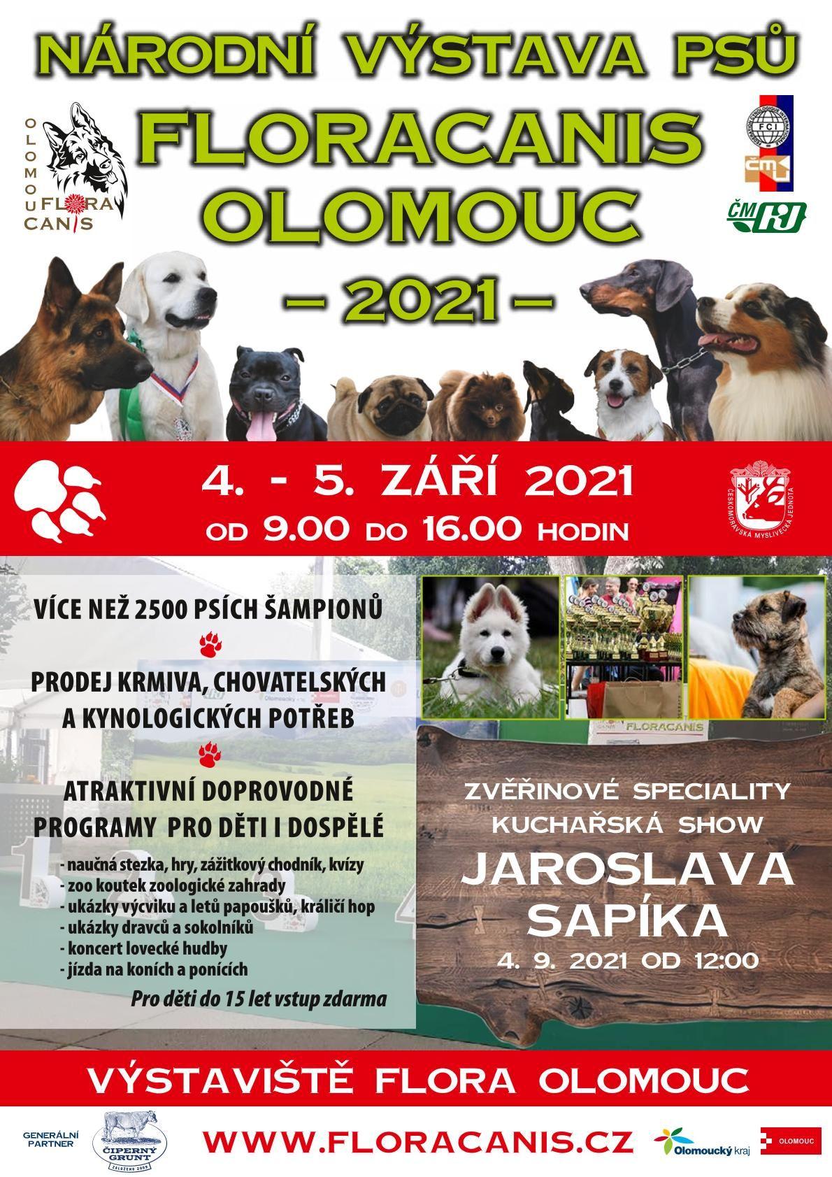 Národní výstava psů Floracanis Olomouc