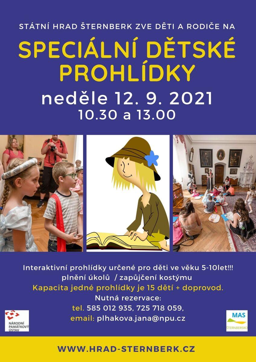 Speciální dětské prohlídky na hradě Šternberk