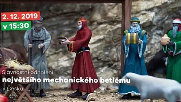 Slavnostní odhalení největšího mechanického betlému v Česku