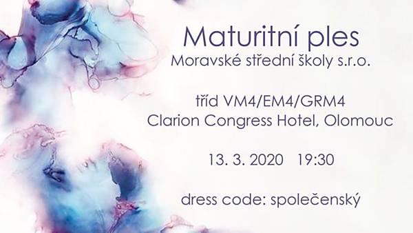 Maturitní ples Moravské střední školy
