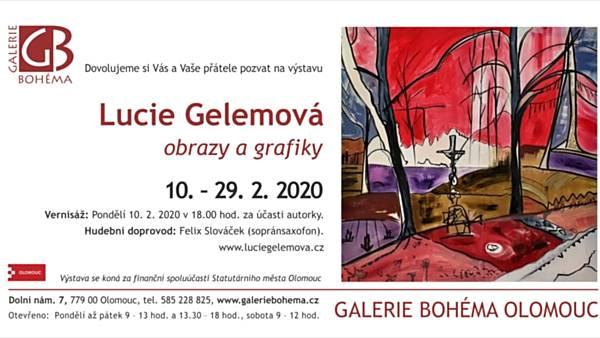 Lucie Gelemová: obrazy a grafiky