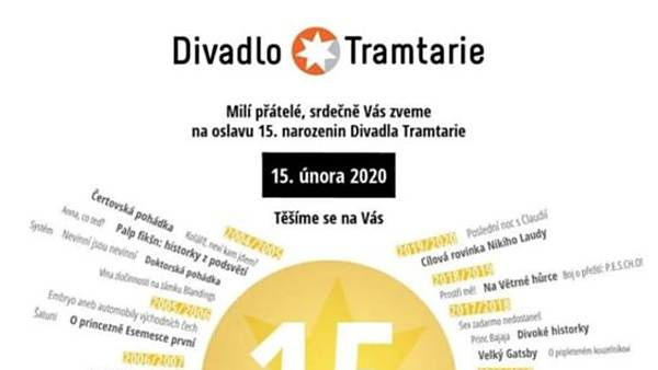 Oslavy 15. narozenin Divadla Tramtarie