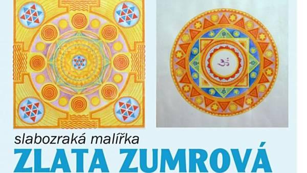 Výstava slabozraké malířky Zlaty Zumrové