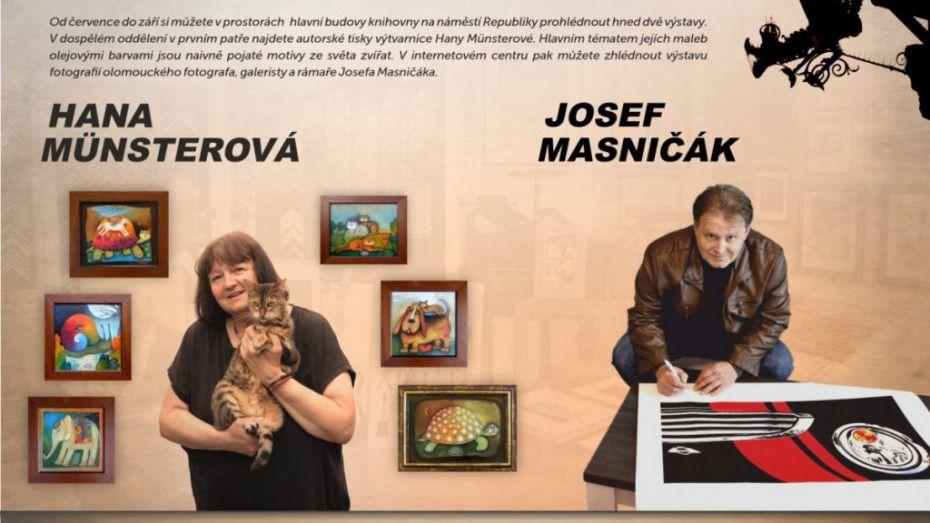 Výstava Hany Münsterové a Josefa Masničáka
