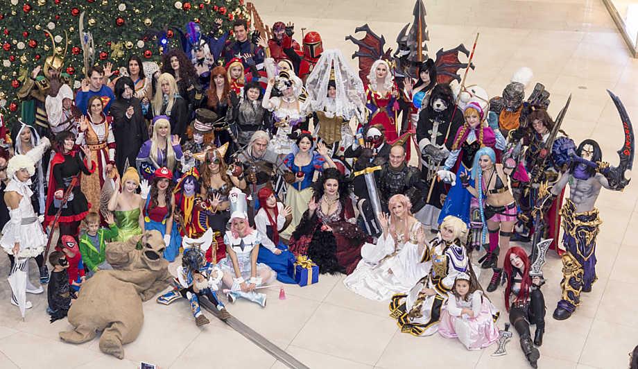 52 cosplayerů na minulém ročníku akce v Olomouci, která se konala v listopadu roku 2015.