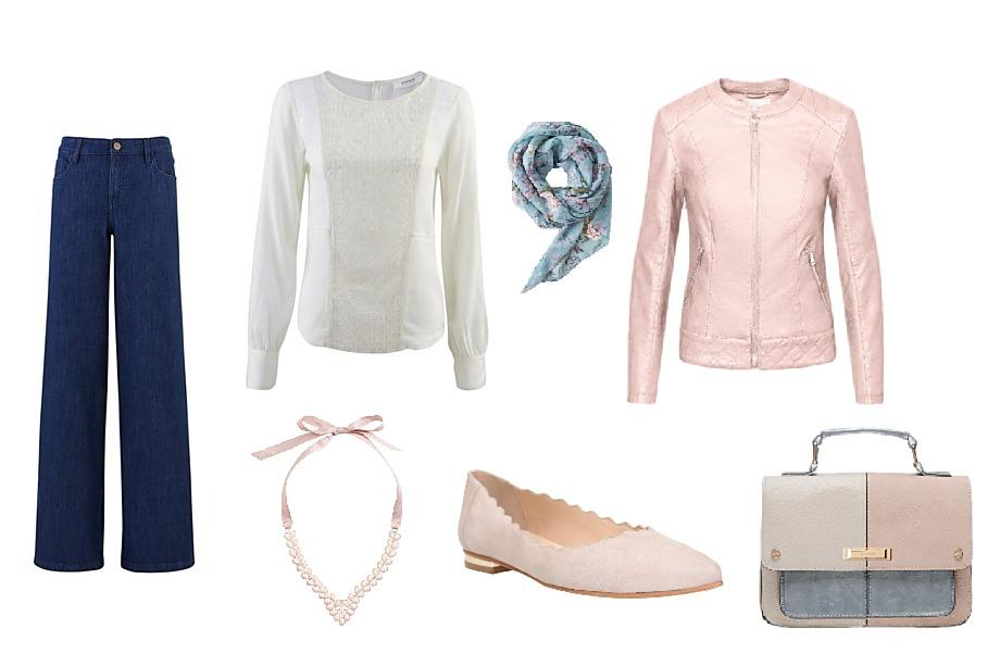 Džíny a halenka Promod, šátek Orsay, náhrdelník H&M, boty CCC, kabelka a bunda Orsay