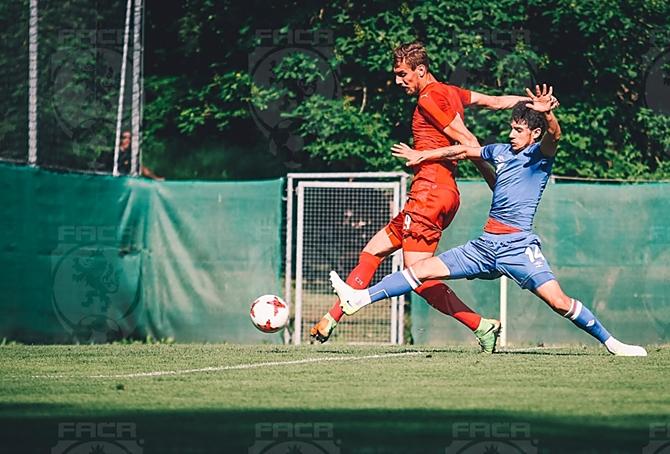 Tomáš Chorý v přípravném utkání ČR U21 v Rakousku proti Ázerbájdžájnu, který náš tým vyhrál 5:0. Po utkání oznámil kouč Lavička závěrečnou nominace na Euro, ve které Tomáš Chorý nescházel.