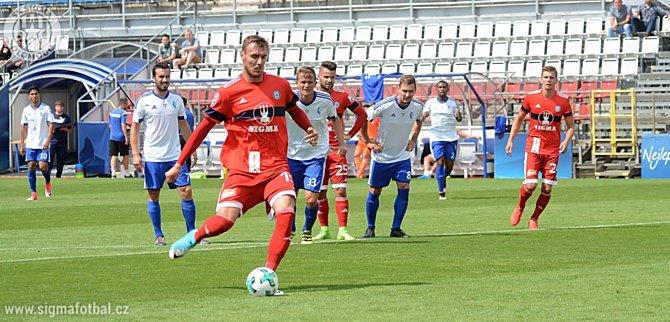 Útočník SK Sigma Olomouc Tomáš Chorý v týdnu prodloužil smlouvu a v sobotu otevřel skóre duelu proti Šamorínu.