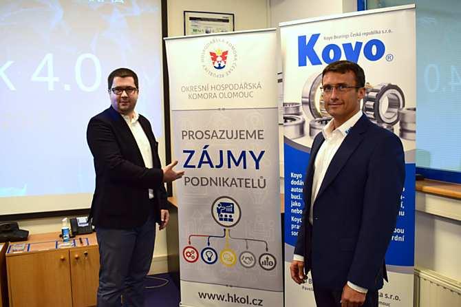 Ředitel OHK Olomouc Radim Kašpar a ředitel KOYO BEARINGS Petr Novák.