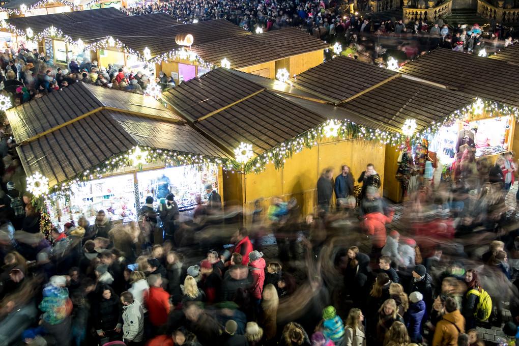 Na náměstí bylo tradičně plno.