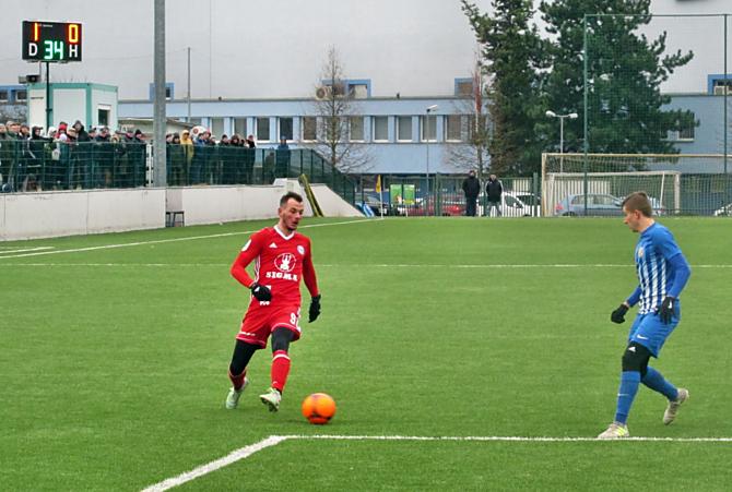 Pavel Moulis se v utkání s Prostějovem trefil hned dvakrát. Sigma Olomouc vyhrála 5:0.