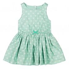 Azurové šaty, dostupné ve velikosti: 2 roky. (659 korun)
