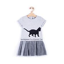 Šaty z kolekce Cute Cat, dostupné ve velikostech 92–122. (465 korun)