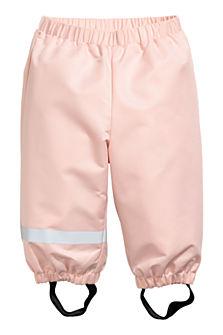 Růžové shellové kalhoty, dostupné ve velikostech 68–98. (349 korun)