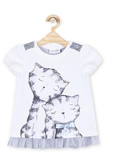 Tričko z kolekce Cute Cat, dostupné ve velikostech 92–122. (279 korun)