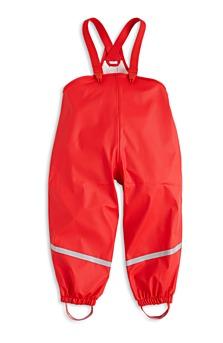 Červené kalhoty do deště, dostupné ve velikostech 80–110. (699 korun)