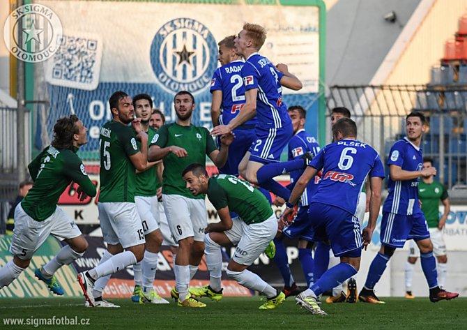 Sigma Olomouc na podzim s Jabloncem remizovala 0:0.