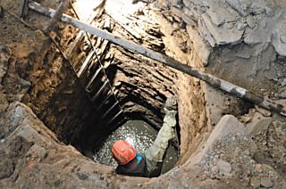 Průzkum kamenné studny