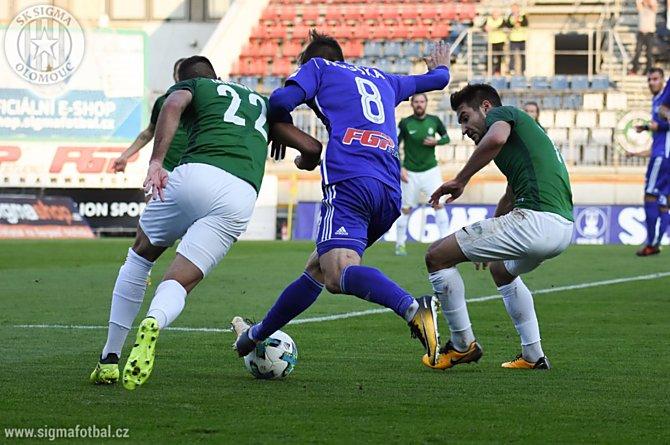 Sigma Olomouc remizovala ve 24. kole HET ligy v Jablonci 0:0.
