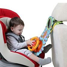 Volant do auta TafToys je vhodný od 12 měsíců. Otáčení volantu a řadicí páky a mačkání tlačítek pomáhá vývoji jemné i hrubé motoriky dítěte. (Brouček, 879 korun)