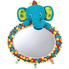 Praktické zrcadlo do auta značky Bright Stars potěší i vaše dítě. Barevný slon s ptáčkem jej během jízdy zabaví, vy zároveň díky velkému vypouklému zrcátku můžete mít dítě neustále pod kontrolou. (Brouček, 549 korun)