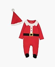 Jednodílné pyžamo s motivem Santa Clause, dostupné ve velikostech 1–18/24 měsíců (249 korun)