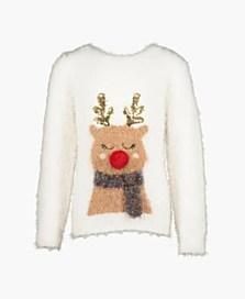 Vánoční svetr pro dívky, dostupný ve velikostech 10/11–14/15 roků (499 korun)