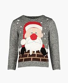 Vánoční svetr pro chlapce, dostupný ve velikostech 12/18–18/24 měsíců (399 korun)