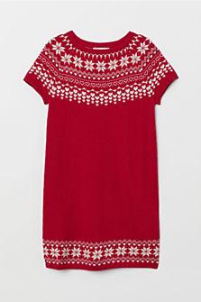 Pletené šaty z vlněné směsi, dostupné ve velikostech 92–140 (399 korun)