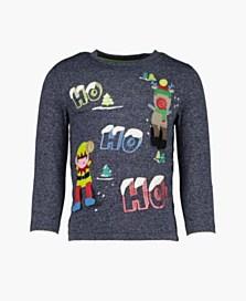 Vánoční triko pro dívky, dostupné ve velikostech 12/18–18/24 měsíců (199 korun)