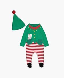 Jednodílné pyžamo s vánočním motivem, dostupné ve velikostech 1–18/24 měsíců (249 korun)