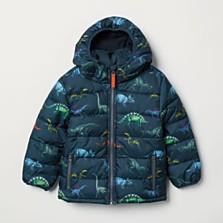 Vatovaná bunda s kapucí, dostupná ve velikostech 92–140