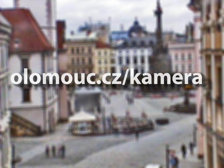 Pohled na Horní náměstí v Olomouci z Ostružnické ulice